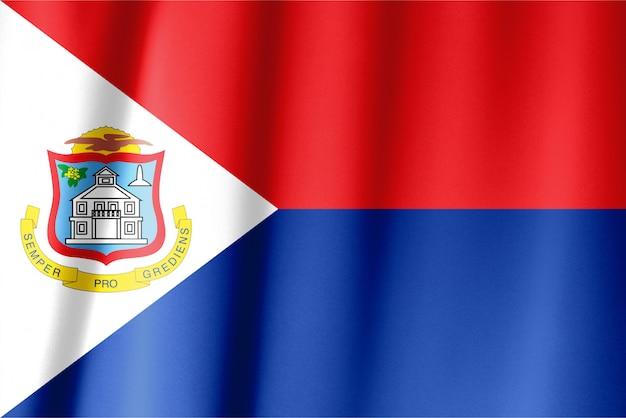 Размахивая подробным национальным флагом страны синт-мартен