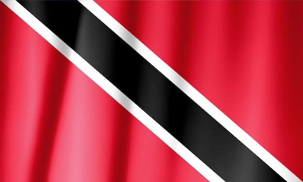 トリニダード・トバゴの旗を振ってフリル