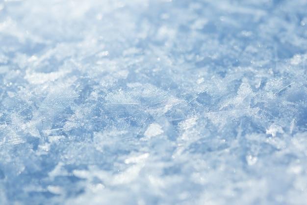 雪、青いトーン