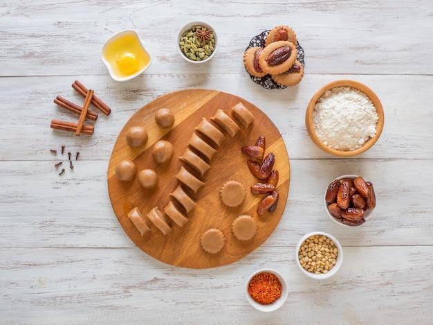自家製イードデートのお菓子の調理
