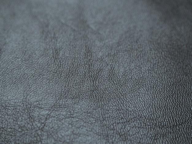 黒革の質感。ぼかしと抽象的な革の質感。
