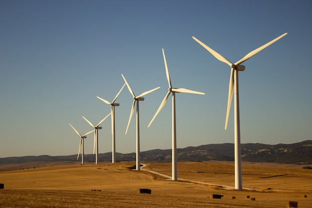 Пейзаж с ветряными мельницами