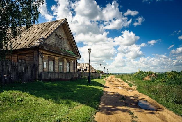 ロシアの伝統的な民家。