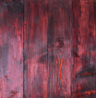 亀裂や傷のある古いレッドウッドパネル