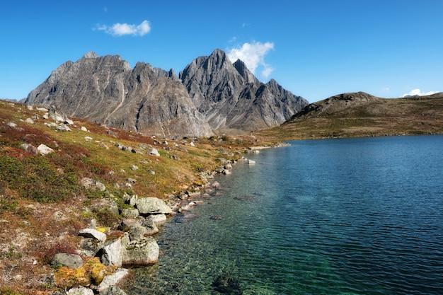 自然の湖の風景