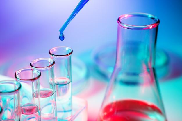 Научные лабораторные пробирки, лабораторное оборудование
