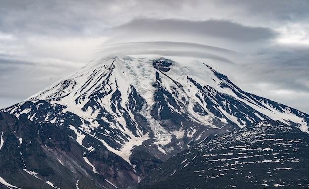 カムチャッカ半島の火山の風景。