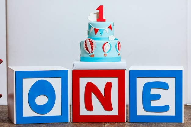 男の子の誕生日パーティーのキャンディバー