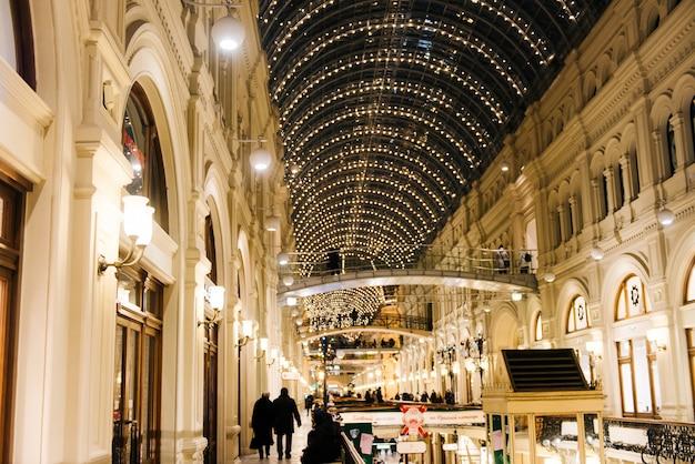 ロシアのモスクワ。本国のクリスマスデコレーション