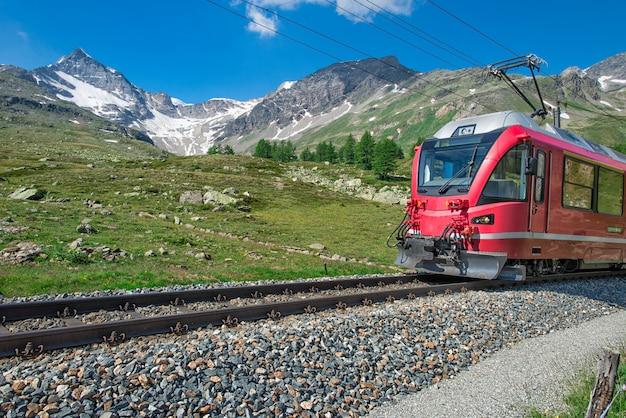 アルプスへの赤い電車