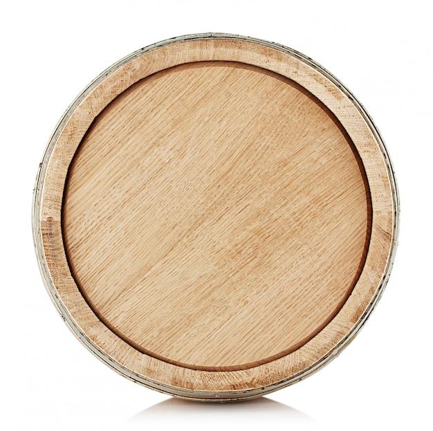 Верх деревянной бочки