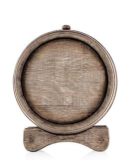 Деревянная бочка с подставкой