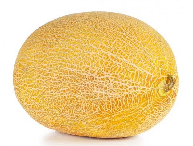 Сладкая спелая желтая овальная дыня