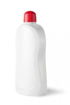 Белая пластиковая бутылка