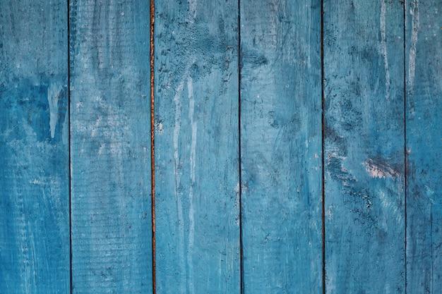 ボードから青い木製の背景