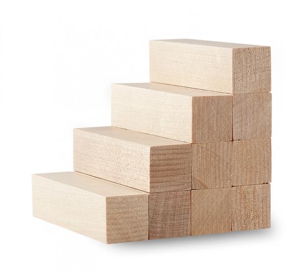 Лестницы из деревянных брусьев