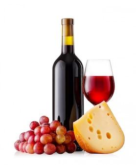 チーズとブドウの赤ワイン
