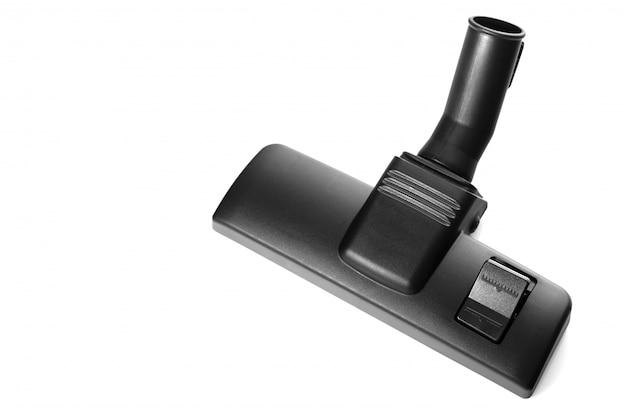 掃除機のノズル、ブラシ、掃除用アクセサリー。白地に黒の掃除機ノズル。