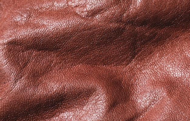 茶色の革の質感