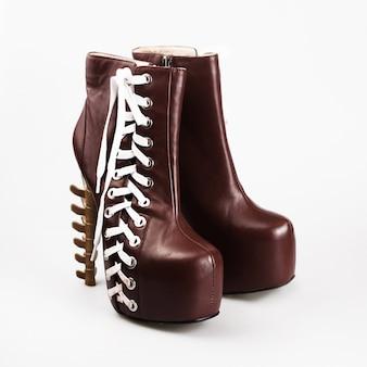 ハイヒールの女性の靴のペア