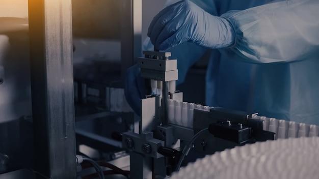 医薬品製造、医薬品製造ラインの医療バイアル