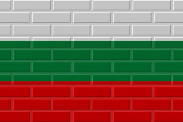 ブルガリアのレンガの旗のイラスト
