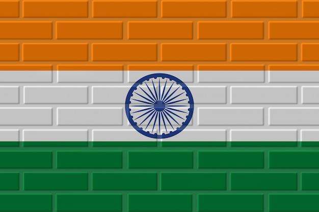 インドのレンガの旗のイラスト