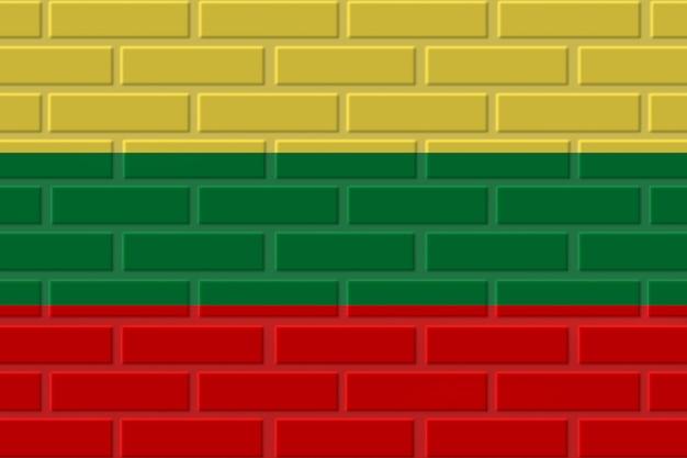 リトアニアのレンガの旗のイラスト