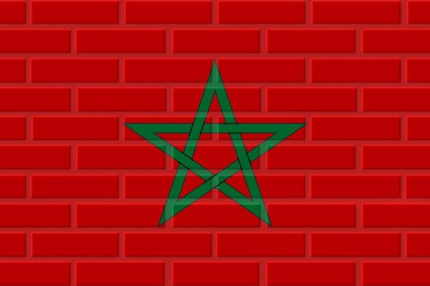 Марокко кирпичный флаг иллюстрация