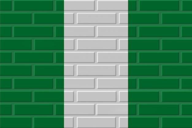 ナイジェリアのレンガの旗のイラスト