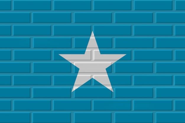 ソマリアのレンガの旗のイラスト