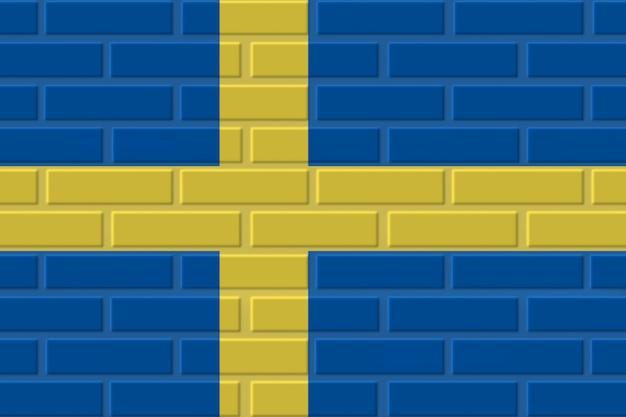スウェーデンのレンガの旗のイラスト