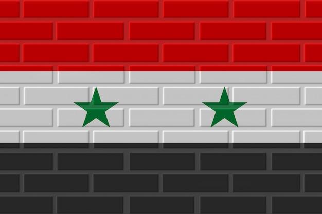 Сирия кирпичный флаг иллюстрация