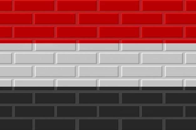 イエメンのレンガの旗のイラスト