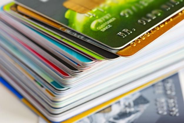 クレジットカードのクローズアップ