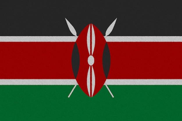 Флаг ткани кении