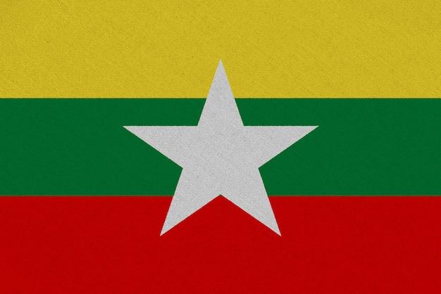 Флаг ткани мьянмы