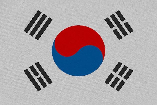 Флаг ткани южной кореи