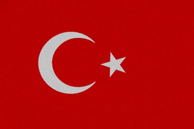 Флаг турции ткани