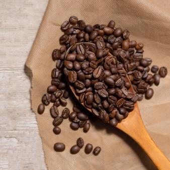 甘い香り豊かなコーヒー豆の背景