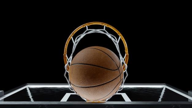 バスケットボールはバスケットを打ちます