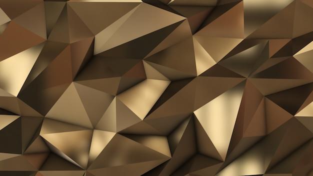 Золотые абстрактные низкополигональные треугольники