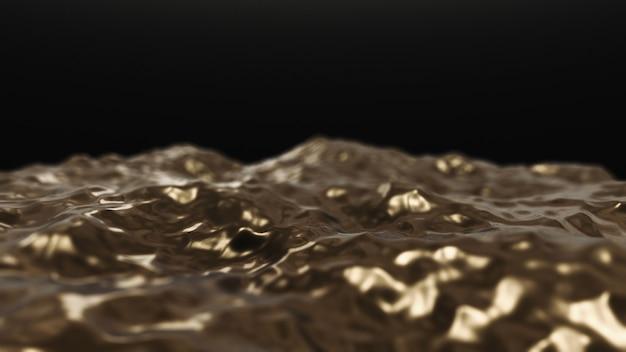 黒の黄金の波