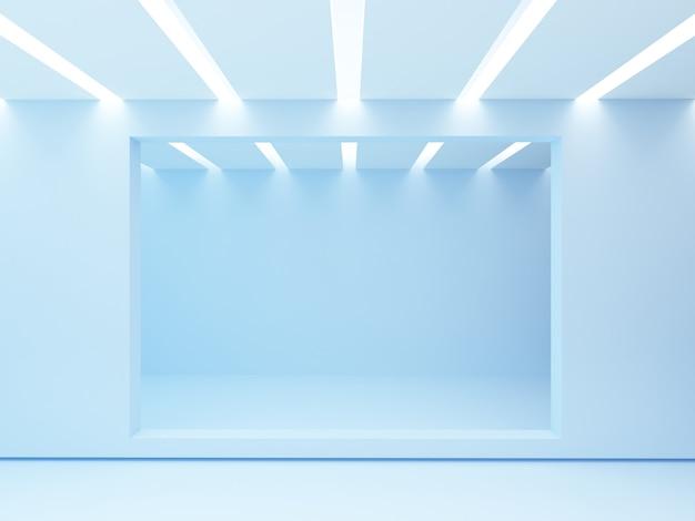 Подсветка потолка. пустая комната.