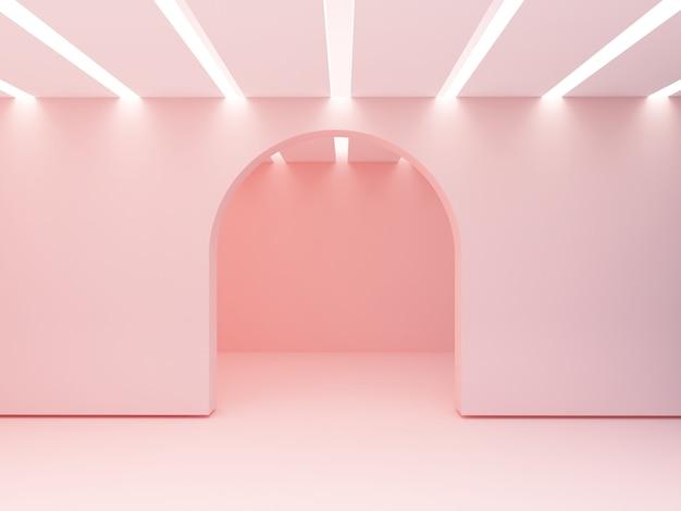照らされた天井。空の部屋。
