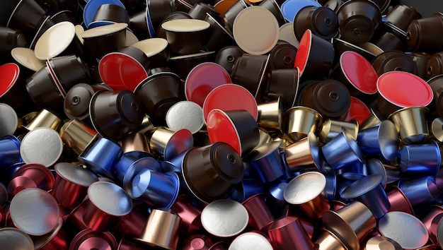 多くはコーヒーカプセルを使用していました。廃棄物の問題。
