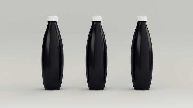Черные бутылки, чтобы добавить этикетку.