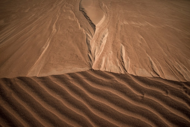 Абстракция песчаных дюн в халапао, токантинс, бразилия.