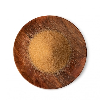 分離された生の茶色の砂糖