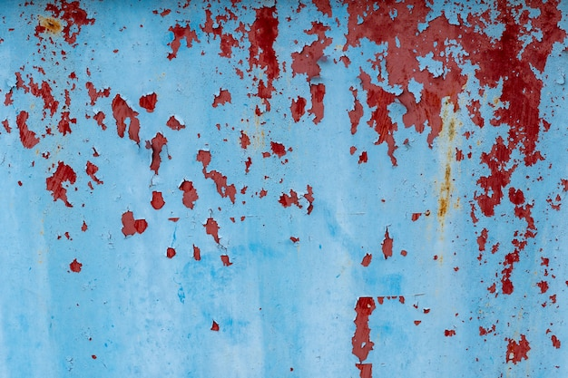 緑色と青色の埃と傷のついたテクスチャ背景と空間。
